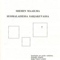 Miehen maailma suomalaisessa sarjakuvassa