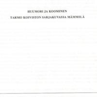 Huumori ja koominen Tarmo Koiviston sarjakuvassa Mämmilä